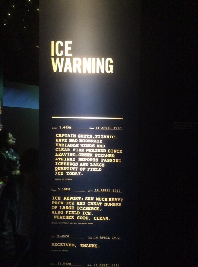 Ice warning